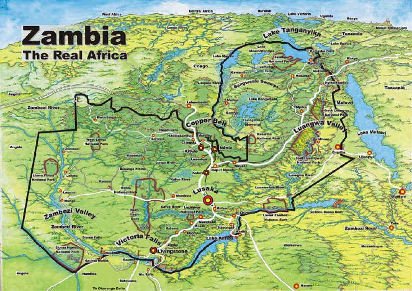 an introduction to the history and geography of zambia Printable map of zambia and info and links to zambia facts, famous natives, landforms, latitude, longitude, maps, symbols, timeline and weather - by worldatlascom.